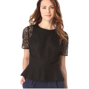 Club Monaco Peplum back blouse